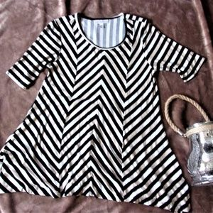 small womans striped summer soft shirt top blouse